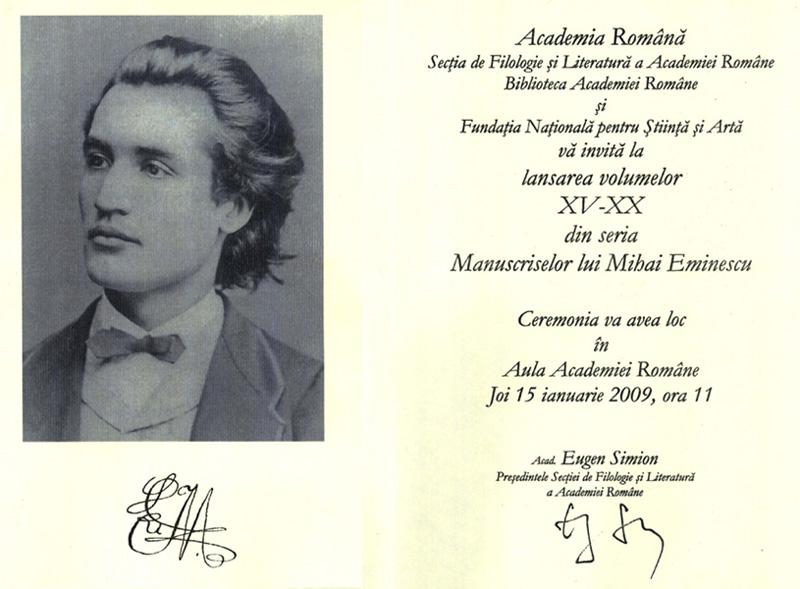 Lansarea volumelor XV - XX din seria Manuscriselor lui Mihai